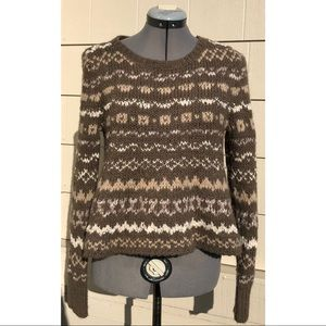Free People Through The Storm Sweater Fair isle